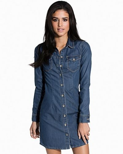 ONLY onlLONNI DENIM SHIRT DRESS