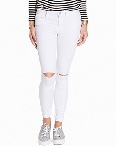 ONLY onlROYAL REG SK KNEECUT JEANS WHITE