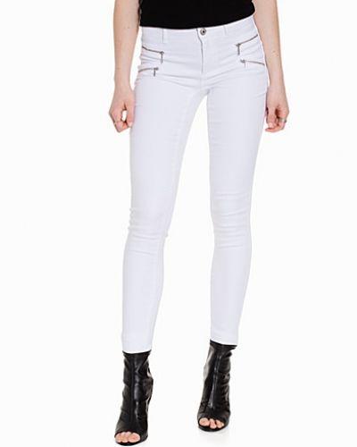Jeans onlROYAL REG SKINNY ZIP JEANS WHITE från ONLY