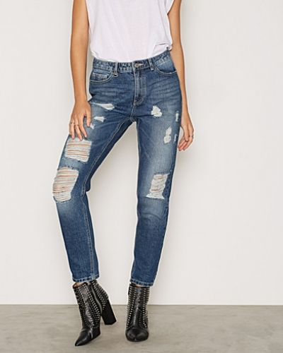 Blå boyfriend jeans från ONLY till dam.