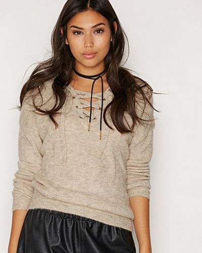 ONLY onlTRUST LACE UP L/S PULLOVER KNT