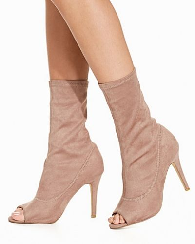 Nly Shoes Open Toe Stretchy Boot