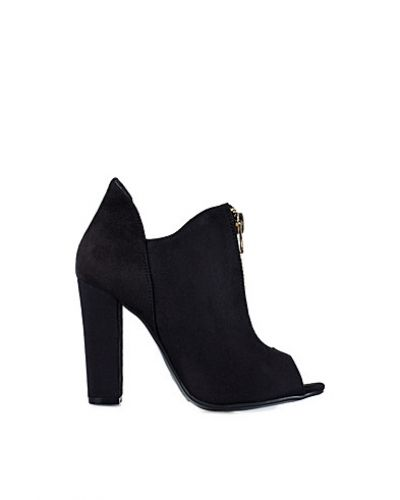 Nly Shoes Open Toe Zip Bootie