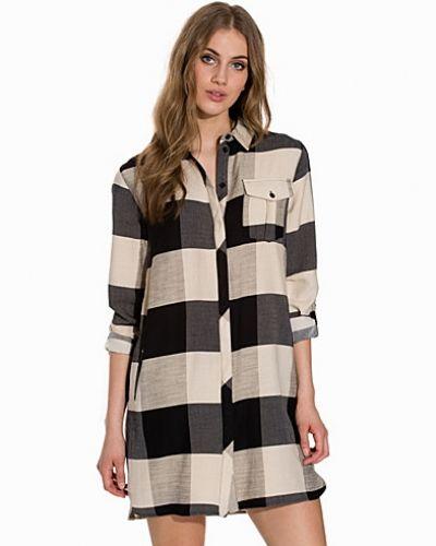 Långärmad klänning Oversized Check Shirt-Dress från Topshop