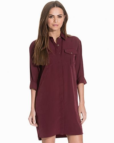 Topshop Oversized Cupro Shirtdress
