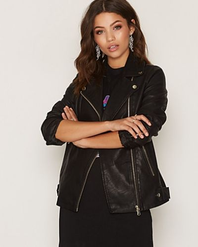 Miss Selfridge Oversized PU Biker Jacket