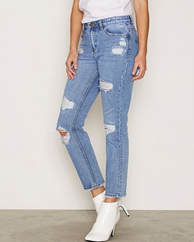 Blå straight leg jeans från New Look till dam.