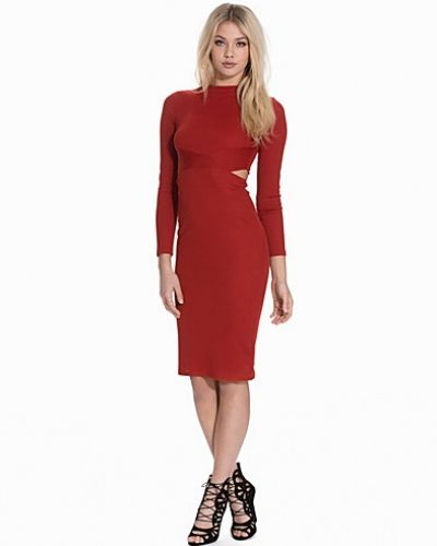 Topshop Panel Cut-Out Midi Dress