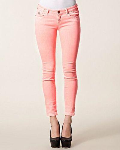 Rosa slim fit jeans från Maison Scotch till dam.