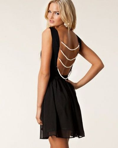 Rare London Pearl Back Skater Dress