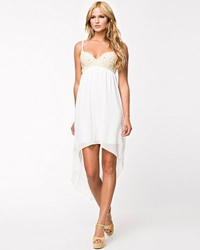 Pearl Embellished Bra High Low Dress Club L maxiklänning till tjejer.