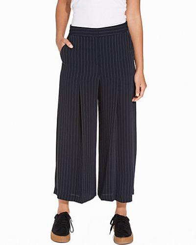 Byxa Pin Stripe Wide Leg Cropped Trousers från Topshop