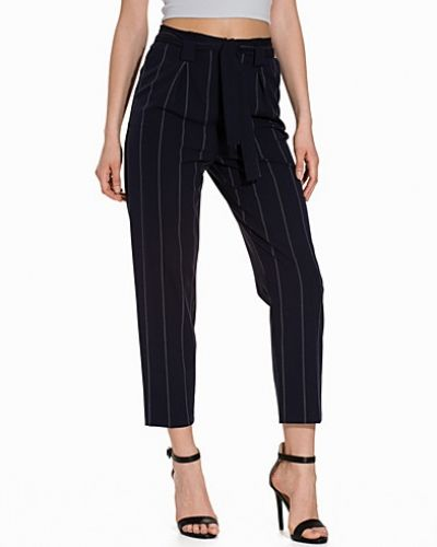Topshop Pinstripe Paperbag Trousers