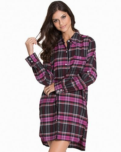 DKNY Lounge Wear Plaid Perfect L/S Boyfriend Shirt