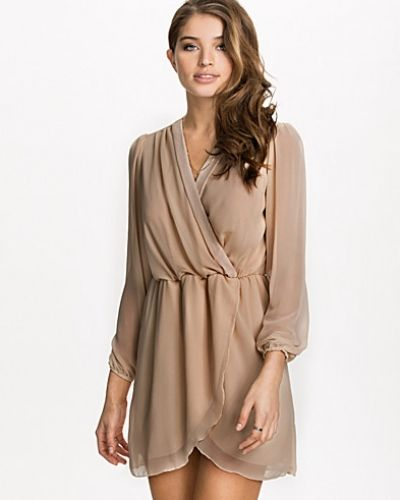 Ax Paris Plain Chiffon Wrap Dress