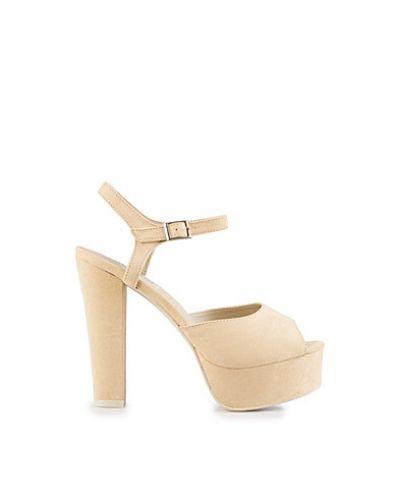 Högklackade Plain Platform Sandal från Nly Shoes