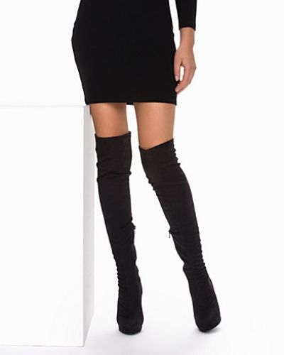 Högklackade Platform Over Knee Boot från Nly Shoes
