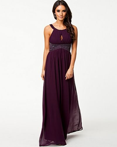 Ax Paris Pleat Emb Key Hole Maxi Dress