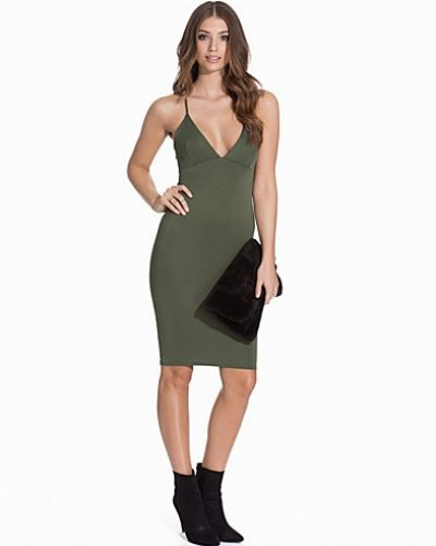 NLY One Plunge Cross Over Midi Dress