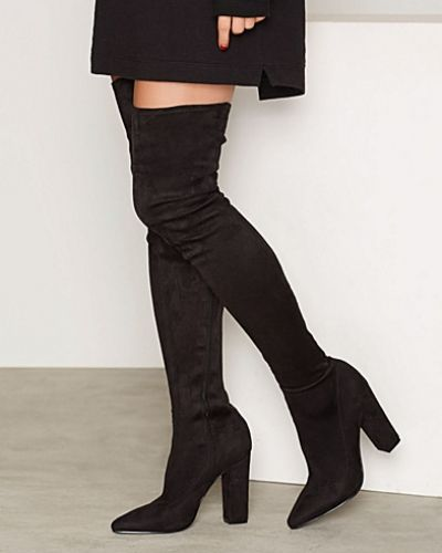 Känga Pointy Stretchy Block Thigh Boot från Nly Shoes