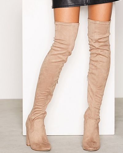 Högklackade Pointy Toe Thigh Boot från Nly Shoes