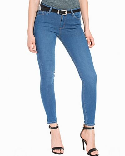 Pretty Blue Leigh Jeans Topshop slim fit jeans till dam.