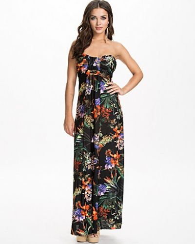 Ax Paris Printed Strapless Summer Dress