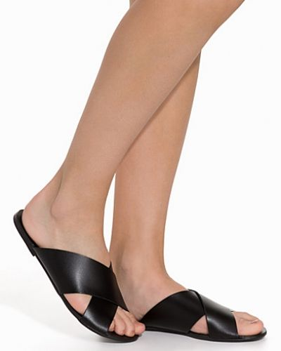 Pieces PSJAMA LEATHER SANDAL BLACK