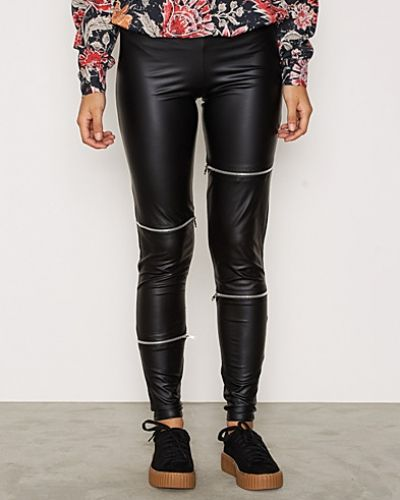 Leggings PU Zip Leggings från NLY Trend