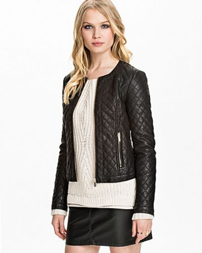 Miss Selfridge Quilted PU Jacket