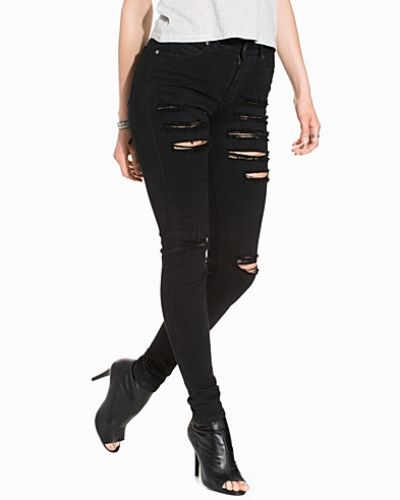 Dr Denim Regina Black Ripped
