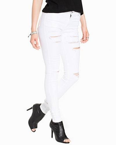 Slim fit jeans Regina White Ripped från Dr Denim