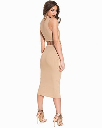 NLY One Rib Midi Cut Out Dress
