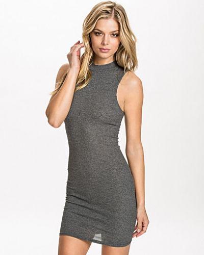 New Look Rib S/L Funnel Midi Dress