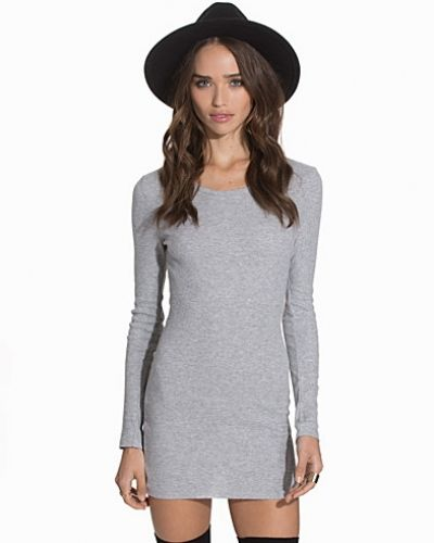 New Look Ribbed Long Sleeve Tunic Top