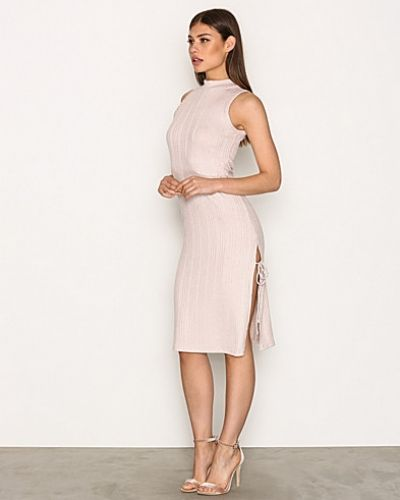 Topshop Ribbed Side Split Midi Dress