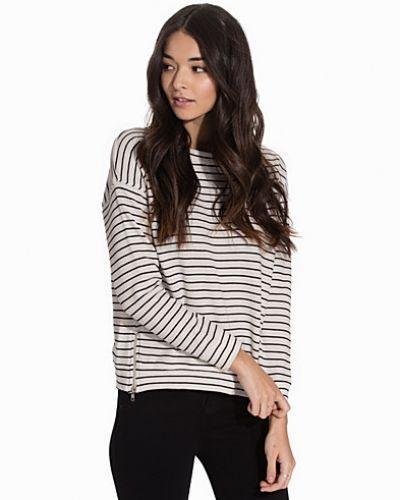 Ribbed Stripe Zip Side Sweater New Look stickade tröja till dam.
