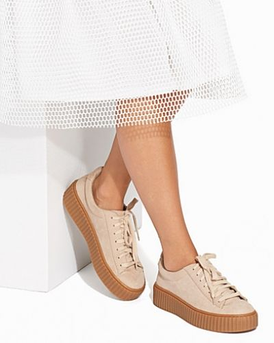 Beige sneakers från Nly Shoes