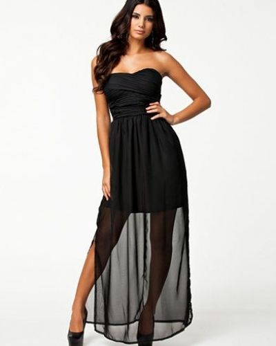 Club L Ruched Bandeau Maxi Dress