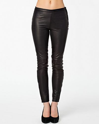Selected Femme Sabrina Zip Leather Pants