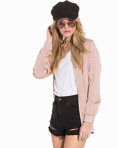 New Look Sateen Longline Bomber Jacket