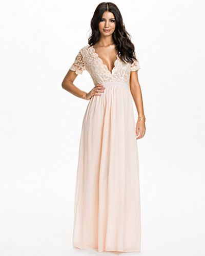 Club L Scalloped Lace Maxi Dress