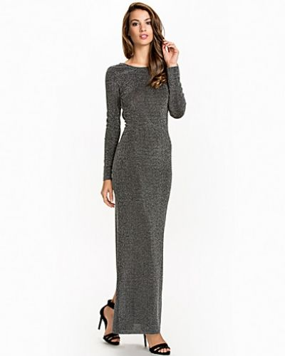 Nly Eve Scoop Back Lurex Dress