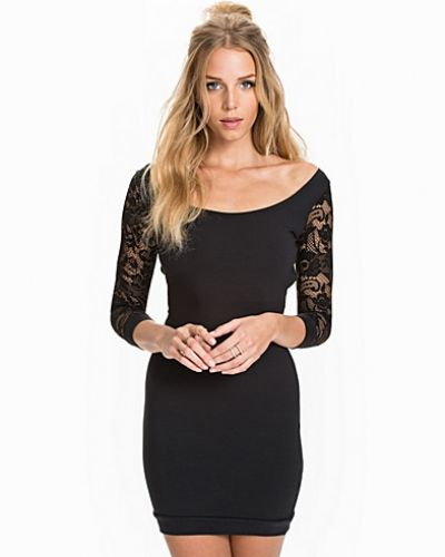 Quontum Scoop Back Mini Lace Sleeve Dress