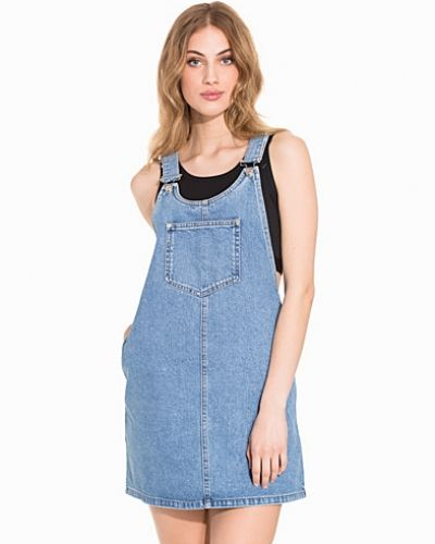 Topshop Scoop Neck Denim Dress