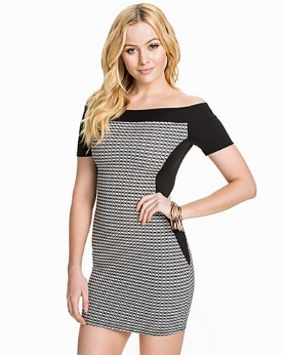 New Look Scuba Panel Bardot Bodycon
