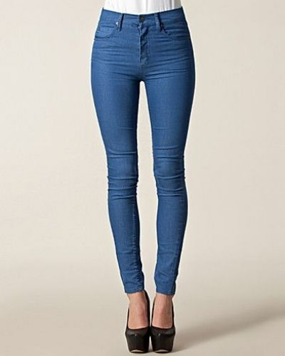 Second Skin Ace Blue Cheap Monday slim fit jeans till dam.