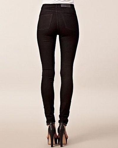 Second Skin Very Stretch Black Cheap Monday slim fit jeans till dam.