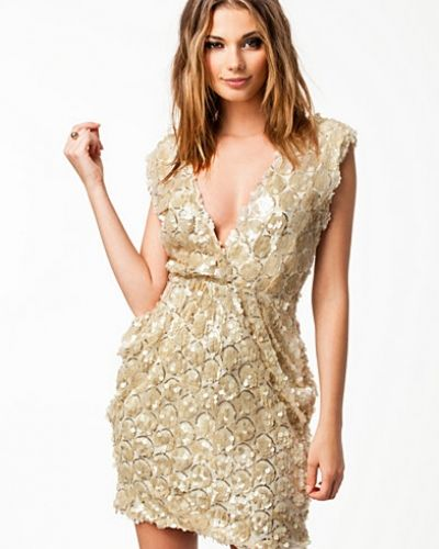 Rare London Sequin Wrap Dress