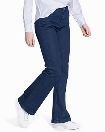 Bootcut jeans SFANNIE MR FLARED JEANS - DARK BLUE från Selected Femme